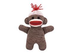 "6.5"" Sock Monkey Baby Doll"