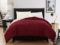 Reversible Comforter-Red-2 sizes