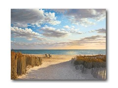 "Sunset Beach Canvas Wall Art 16""x20"""