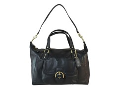 Campbell Leather Large Satchel, Black