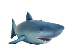 "Inflatable 84"" Long Lifelike Shark"