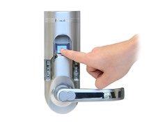 Silver Fingerprint Lock Right Handle