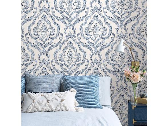 Blue Guildford Peel Stick Wallpaper