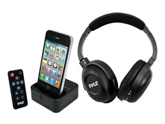 UHF Wireless Headphones with Wireless 30-pin Dock