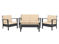 Piscataway 4-Piece Set, Charcoal/Beige