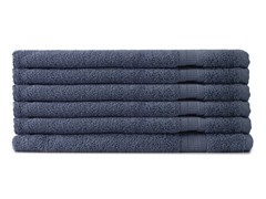 MicroCotton 6pc Hand Towel Set-Blue