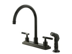 Water Onyx Kitchen Faucet and Sprayer, Black Nickel