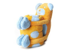 Elegant Baby Blanket & Toy - Bear