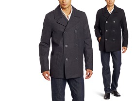 Levi's Men's Wool Melton Peacoat - 2 Colors