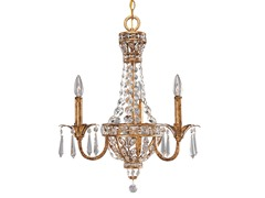 3-Light Palais Chandelier, Imperial Gold