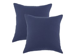 Duck Navy 17x17 Pillows-S/2