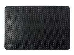 5' Indoor Diamond Mat, Solid Black
