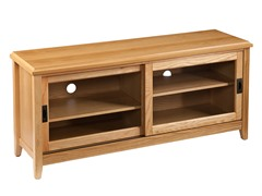 SEI Essex TV/Media Stand - Natural Oak