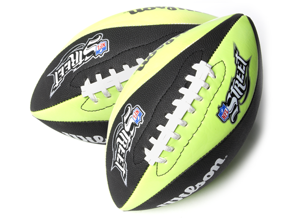 Wilson Nfl Street Glow Football 2 Pack