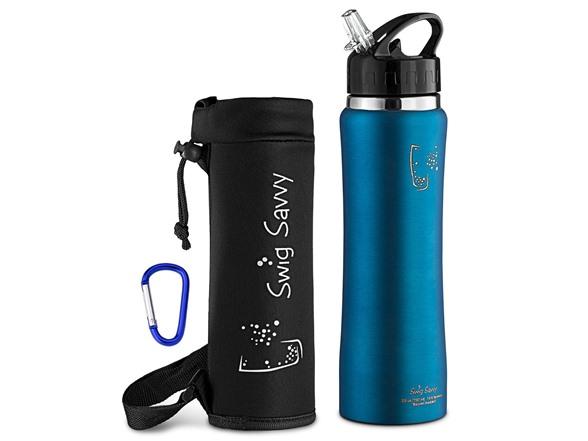 041fdfc9f58 SWIG SAVVY Stainless Steel Water Bottle (24 oz)