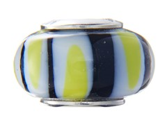 Multicolored Swirl Glass Bead