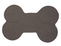 Gray Dog Bone Solid Rug - 3 Sizes